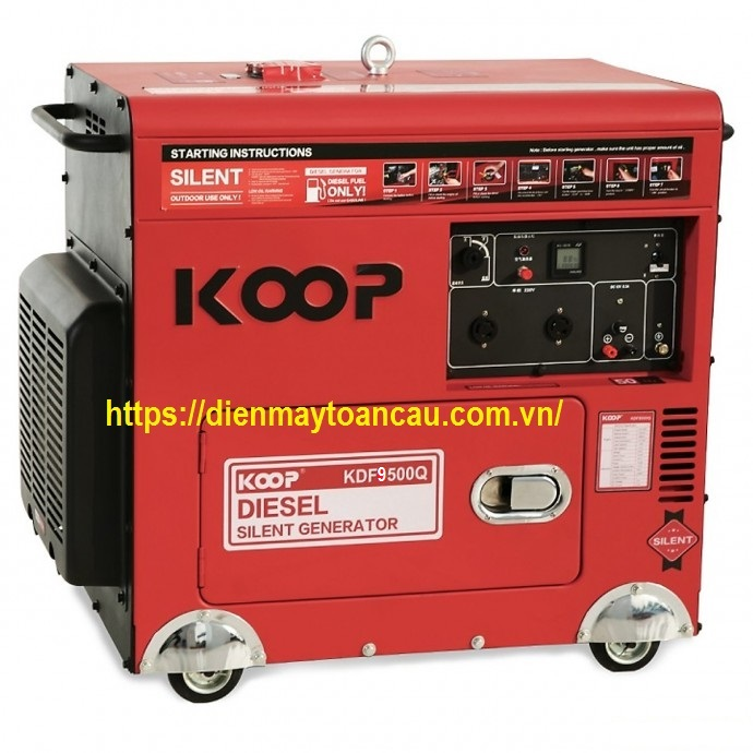 Máy phát điện KOOP KDF9500Q