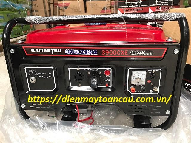 Máy phát điện 3kw chạy xăng Kamastsu 3900CXE